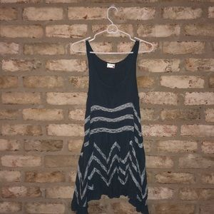 Gray flowy free people dress